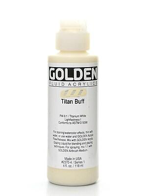 Golden Fluid Acrylics Titanium Buff 4 Oz. [Pack Of 2] (2PK-2370-4)
