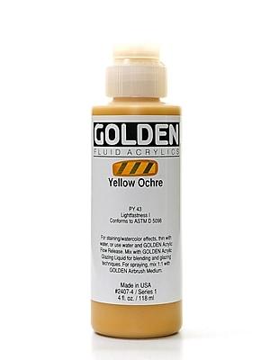 Golden Fluid Acrylics Yellow Ochre 4 Oz. [Pack Of 2] (2PK-2407-4)