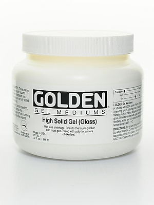 Golden Gel Mediums High Solid Gloss 32 Oz. (3120-7)