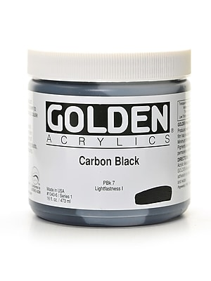 Golden Heavy Body Acrylics Carbon Black 16 Oz. (1040-6) 2135367