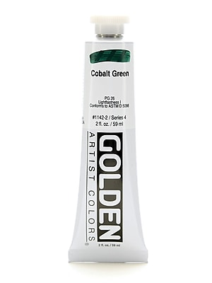 Golden Heavy Body Acrylics Cobalt Green 2 Oz. [Pack Of 2] (2PK-1142-2)