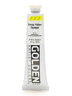 Golden Heavy Body Acrylics Hansa Yellow Opaque 2 Oz. [Pack Of 2] (2PK-1191-2)