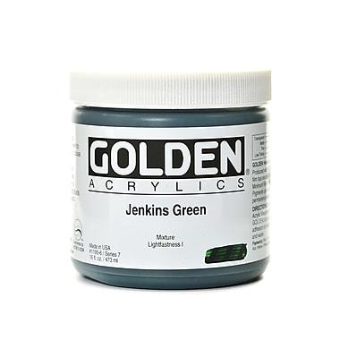 Golden Heavy Body Acrylics Jenkins Green 16 Oz. (1195-6)