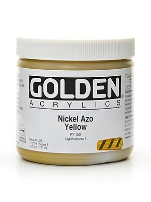 Golden Heavy Body Acrylics Nickel Azo Yellow 16 Oz. (1225-6)