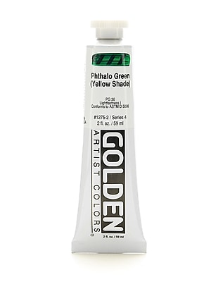 Golden Heavy Body Acrylics Phthalo Green/Yellow Shade 2 Oz. [Pack Of 2] (2PK-1275-2)