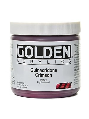 Golden Heavy Body Acrylics Quinacridone Crimson 16 Oz. (1290-6) 2168530