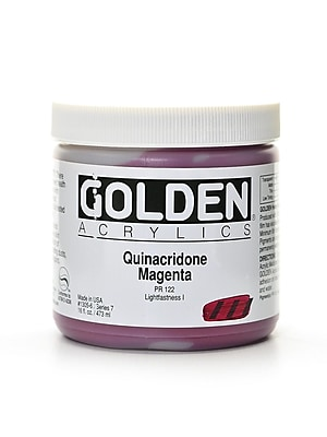 Golden Heavy Body Acrylics Quinacridone Magenta 16 Oz. (1305-6)
