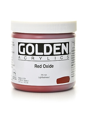 Golden Heavy Body Acrylics Red Oxide 16 Oz. (1360-6)