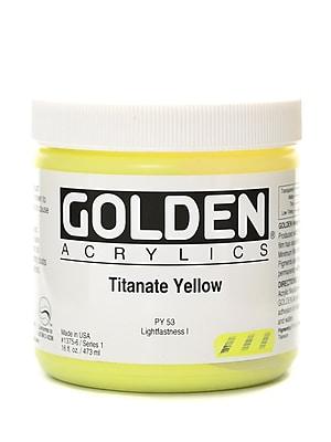 Golden Heavy Body Acrylics Titanate Yellow 16 Oz. (1375-6)