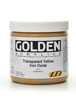 Golden Heavy Body Acrylics Transparent Yellow Iron Oxide 16 Oz. (1386-6)