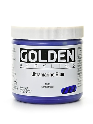 Golden Heavy Body Acrylics Ultramarine Blue 16 Oz. (1400-6) 2135300