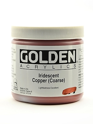 Golden Iridescent And Interference Acrylics Iridescent Copper Coarse 16 Oz. (4105-6)