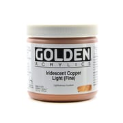 Golden Iridescent And Interference Acrylics Iridescent Copper Light Fine 16 Oz. (4006-6)