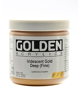 Golden Iridescent And Interference Acrylics Iridescent Gold Deep Fine 16 Oz. (4015-6)