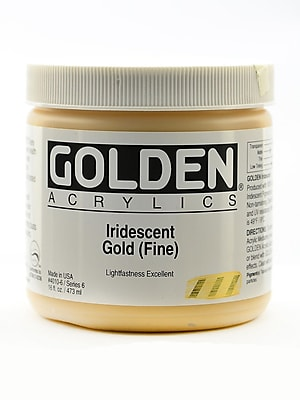 Golden Iridescent And Interference Acrylics Iridescent Gold Fine 16 Oz. (4010-6)