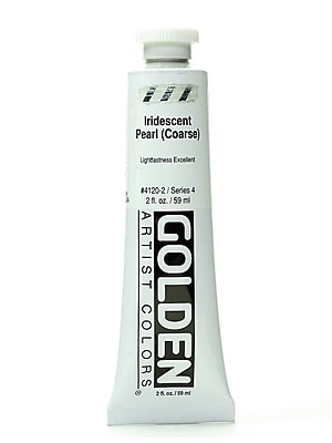 Golden Iridescent And Interference Acrylics Iridescent Pearl Coarse 2 Oz. [Pack Of 2] (2PK-4120-2)