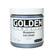 Golden Iridescent And Interference Acrylics Mica Iron Oxide  8 Oz. (4080-5)