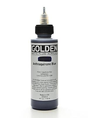 Golden Matte Fluid Acrylics Anthraquinone Blue 4 Oz. (2505-4)