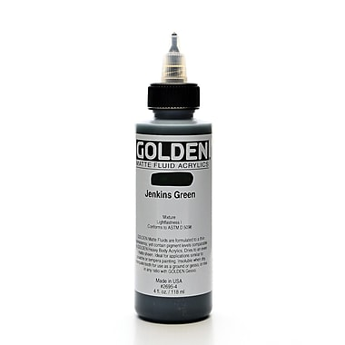Golden Matte Fluid Acrylics Jenkins Green 4 Oz. (2695-4)