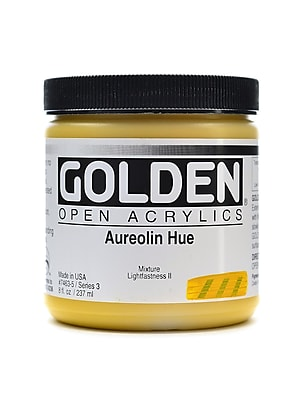 Golden Open Acrylic Colors Aureolin Hue 8 Oz. Jar (7463-5)