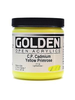 Golden Open Acrylic Colors Cadmium Yellow Primrose (Cp) 8 Oz. Jar (7135-5)