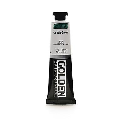 Golden Open Acrylic Colors Cobalt Green 2 Oz. Tube [Pack Of 2] (2PK-7142-2)