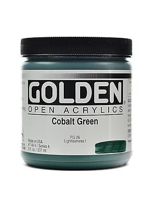 Golden Open Acrylic Colors Cobalt Green 8 Oz. Jar (7142-5)
