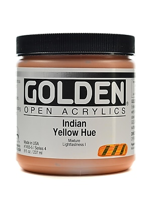 Golden Open Acrylic Colors Indian Yellow Hue 8 Oz. Jar (7455-5)
