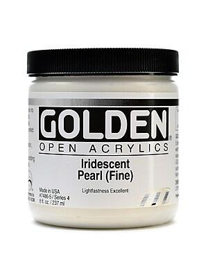 Golden Open Acrylic Colors Iridescent Pearl (Fine) 8 Oz. Jar (7486-5)