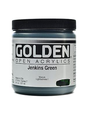 Golden Open Acrylic Colors Jenkins Green 8 Oz. Jar (7195-5)