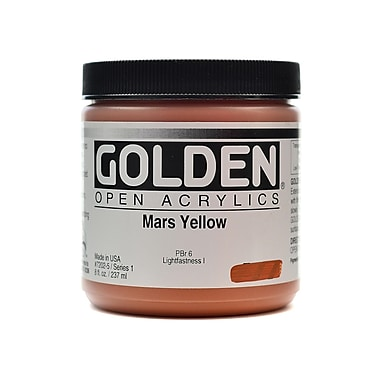 Golden Open Acrylic Colors Mars Yellow 8 Oz. Jar (7202-5)