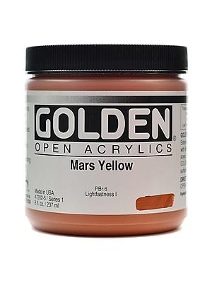 Golden Open Acrylic Colors Mars Yellow 8 Oz. Jar (7202-5)