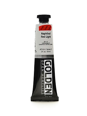 Golden Open Acrylic Colors Naphthol Red Light 2 Oz. Tube [Pack Of 2] (2PK-7210-2)