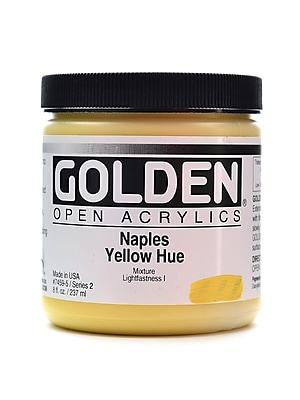 Golden Open Acrylic Colors Naples Yellow Hue 8 Oz. Jar (7459-5)