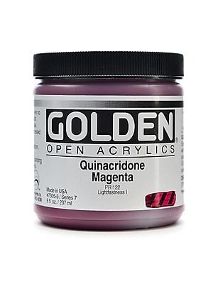 Golden Open Acrylic Colors Quinacridone Magenta 8 Oz. Jar (7305-5) 2138170
