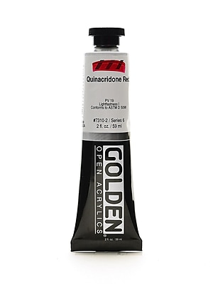 Golden Open Acrylic Colors Quinacridone Red 2 Oz. Tube [Pack Of 2] (2PK-7310-2)