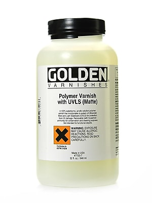 Golden Polymer Varnish With Uvls Matte 32 Oz. (7720-7)