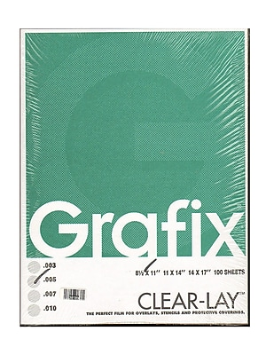 Grafix Clear-Lay Acetate Alternative 0.005 In. 8 1/2 In. X 11 In. Pack Of 100 (K05CV0811)