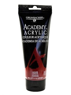 Grumbacher Academy Acrylic Colors Alizarin Crimson 6.8 Oz. (200 Ml) [Pack Of 2] (2PK-C001P200)