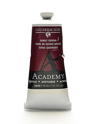 Grumbacher Academy Acrylic Colors Burnt Sienna 3 Oz. (90 Ml) [Pack Of 3] (3PK-C023)