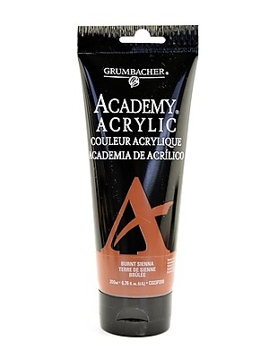 Grumbacher Academy Acrylic Colors Burnt Sienna 6.8 Oz. (200 Ml) [Pack Of 2] (2PK-C023P200)