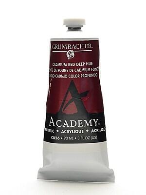 Grumbacher Academy Acrylic Colors Cadmium Red Deep Hue 3 Oz. (90 Ml) [Pack Of 3] (3PK-C026)