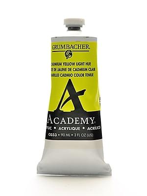 Grumbacher Academy Acrylic Colors Cadmium Yellow Light 3 Oz. (90 Ml) [Pack Of 3] (3PK-C033)