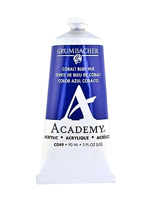 Grumbacher Academy Acrylic Colors Cobalt Blue Hue 3 Oz. (90 Ml) [Pack Of 3] (3PK-C049)