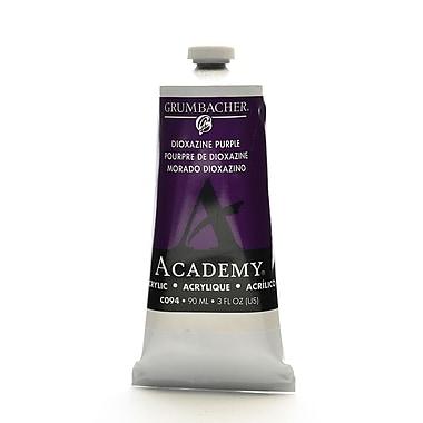 Grumbacher Academy Acrylic Colors Dioxazine Purple 3 Oz. (90 Ml) [Pack Of 3] (3PK-C094)
