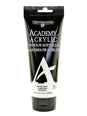 Grumbacher Academy Acrylic Colors Mixing White 6.8 Oz. (200 Ml) [Pack Of 2] (2PK-C248P200)