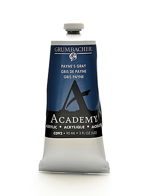 Grumbacher Academy Acrylic Colors Payne'S Gray 3 Oz. (90 Ml) [Pack Of 3] (3PK-C092)