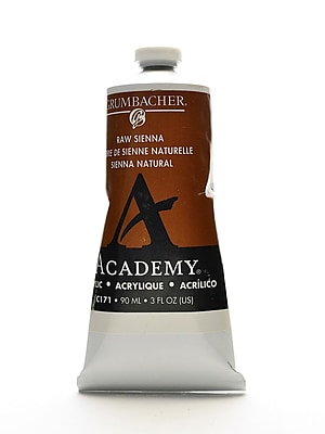 Grumbacher Academy Acrylic Colors Raw Sienna 3 Oz. (90 Ml) [Pack Of 3] (3PK-C171)