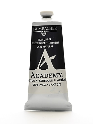 Grumbacher Academy Acrylic Colors Raw Umber 3 Oz. (90 Ml) [Pack Of 3] (3PK-C172)