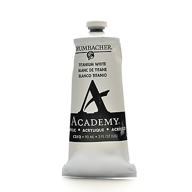 Grumbacher Academy Acrylic Colors Titanium White 3 Oz. (90 Ml) [Pack Of 3] (3PK-C212)
